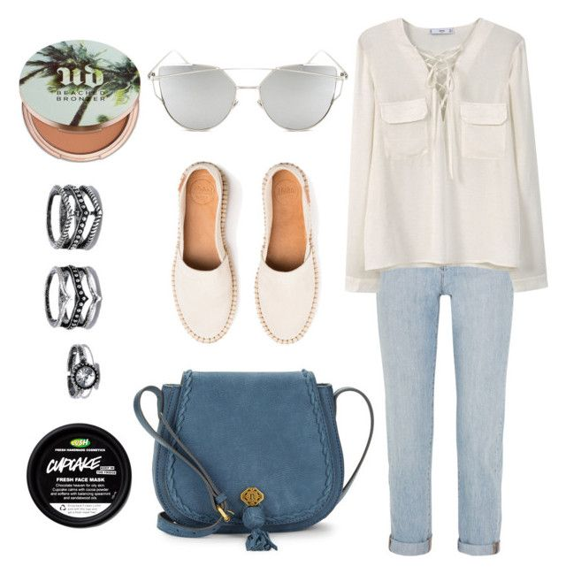 """""""Untitled #55"""" by xgrenadine on Polyvore featuring Madewell, Nanette Lepore, MANGO, Urban Decay, Lulu*s and Chicnova Fashion"""