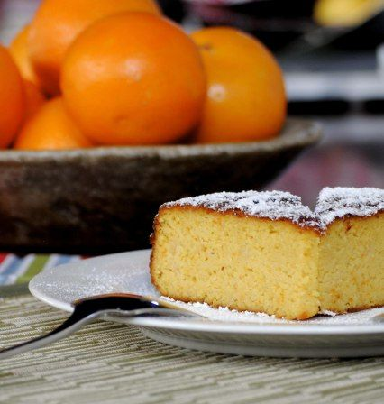 orange cake and oranges
