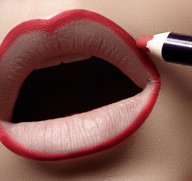 For the ultimate staying power for darker lipstick, apply concealer to the lip and line with a long-lasting pencil to prevent bleeding.