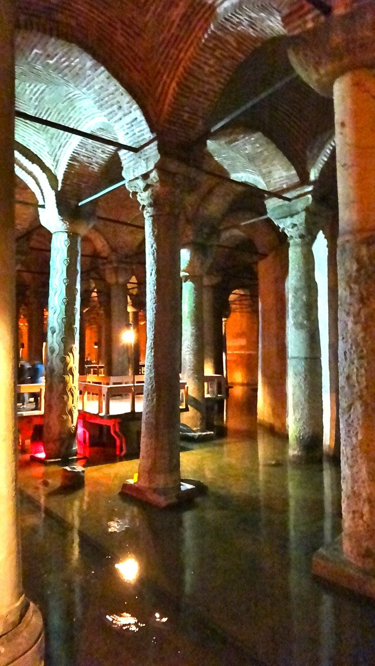 Basilica Cistern, Istanbul, Turkey Basilica Cistern  September 2014   The pillars were taken from other sites so are not all the same