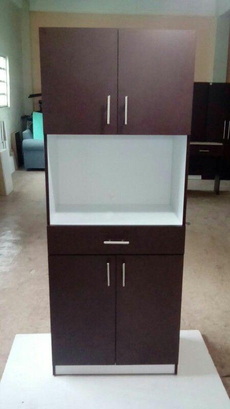 Mueble para microondas con cajón.