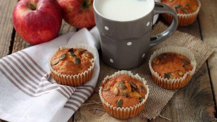 Muffins alla zucca e mela