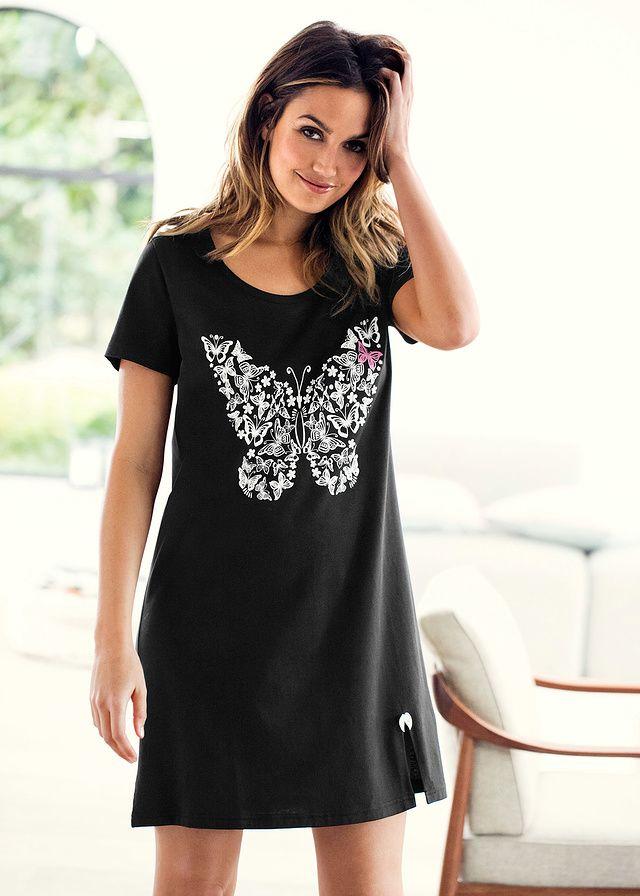 Koszula nocna Z małym rozporkiem z • 34.99 zł • bonprix