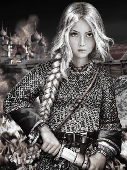 девушка-воин. воинственная девушка
