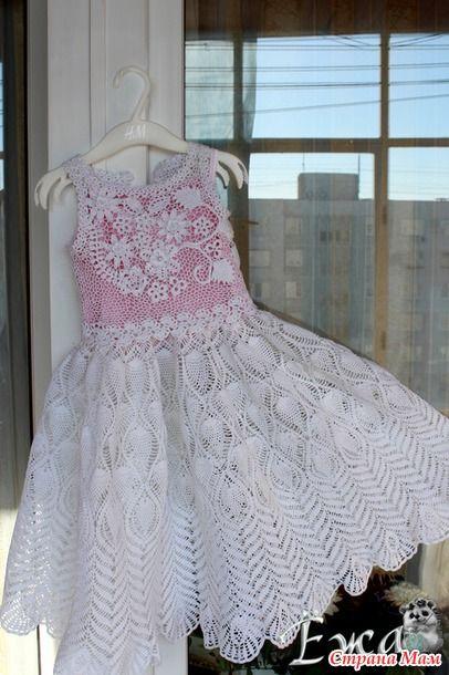 """. Очередное платье для дочки и первый опыт в """"ирландии""""! - Все в ажуре... (вязание крючком) - Страна Мам"""