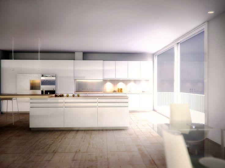 kitchen 3d render-interior design-vray-3ds max