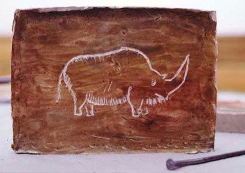 Malen auf Gips: Höhlenmalerei                                                                                                                                                                                 Mehr