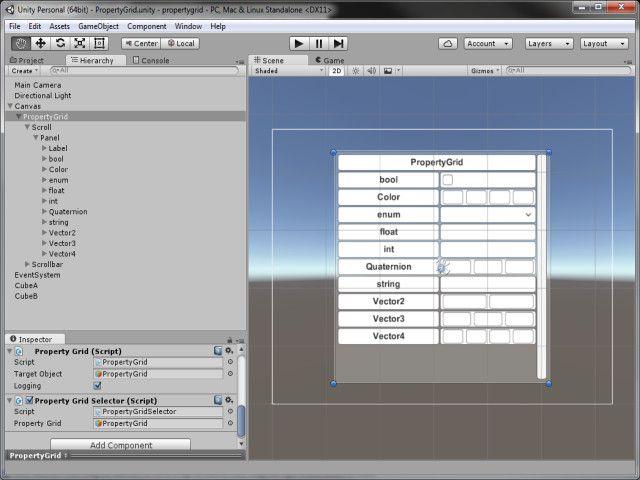 Property Grid for Unity UI #Unity#Grid#Property#GUI
