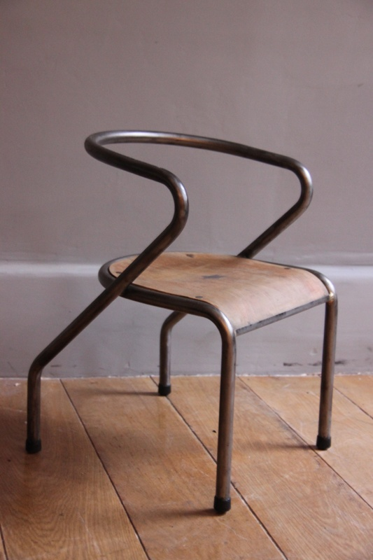 Traditional vintage school chair - Mobilor by Jacques Hitier