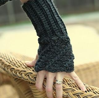 twist crochet fingerless gloves ... pattern ...