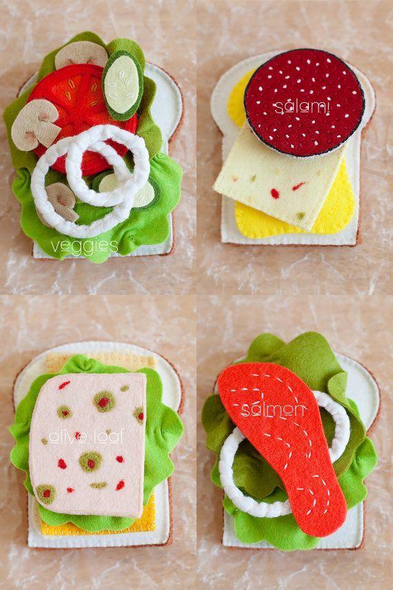 Felt sandwich toppings