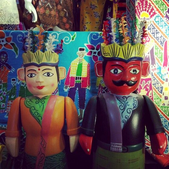 Ondel-ondel. Boneka khas betawi, Jakarta.