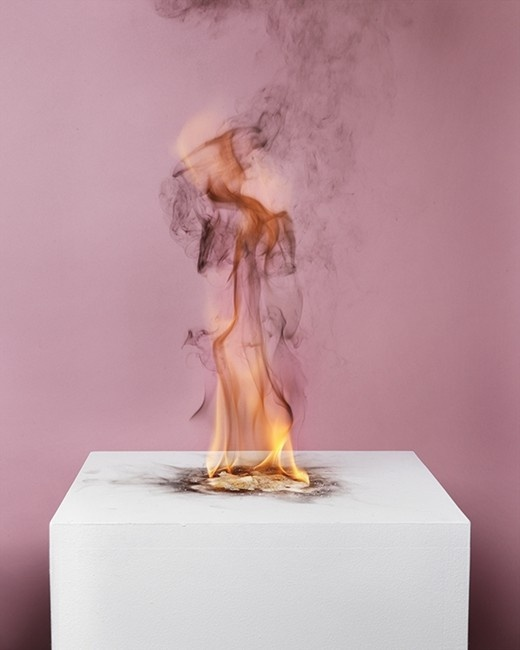 Michael Bühler-Rose: Camphor Flame on Pedestal (0433), 2010 Courtesy of the artist and Nature Morte Berlin