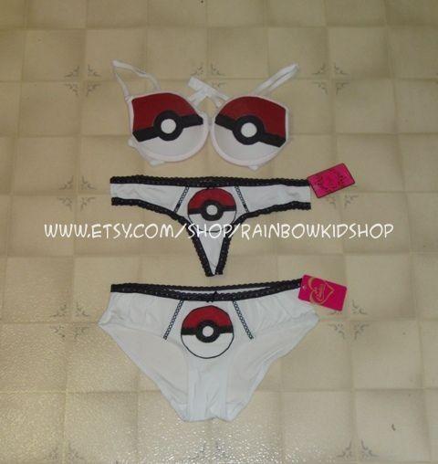 Pokemon Bra and Underwear LOVE IT!!!