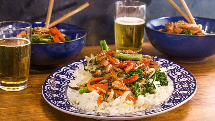 Plum Sauce Chicken and Broccoli Stir fry - Rachael Ray (Control ingredients in homemade take out)