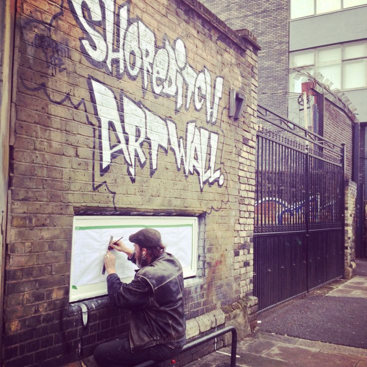 Shorditch Artwall...true artist