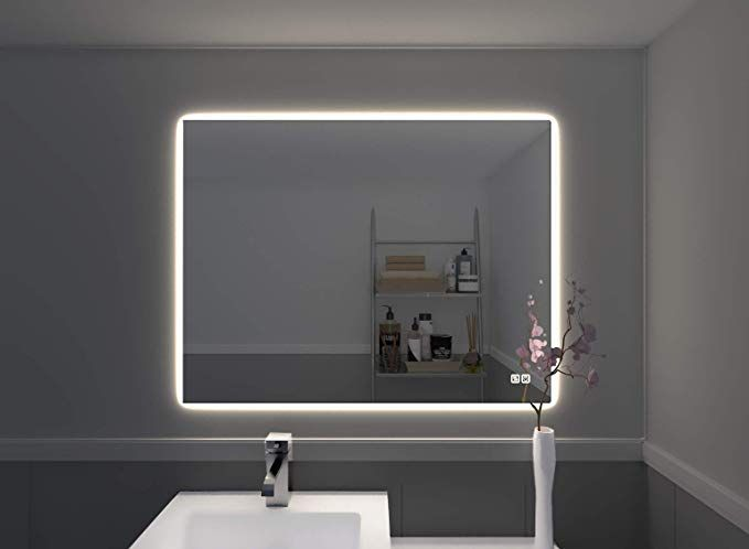 Amazon Com Naomi Home Led Lighted Bathroom Wall Mounted Mirror