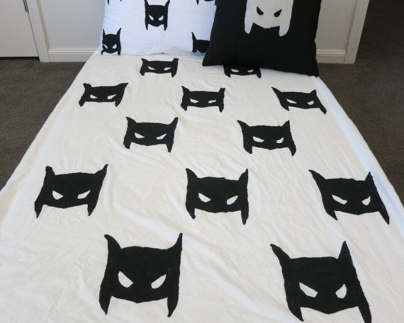 Superhero fitted sheet by AliJoyKids on Etsy