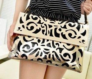 Free shipping 2014 Promotion envelope bag hollo design, messenger bag, briefcase women's day clutch big handbags XS110