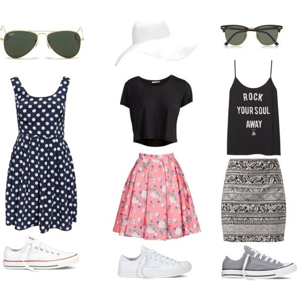 SEA WORLD by communitymanagertav on Polyvore featuring moda, ONLY, Pieces, ERIN Erin Fetherston, Converse, Ray-Ban, Forever 21, Orlando, seaworld and EEUU