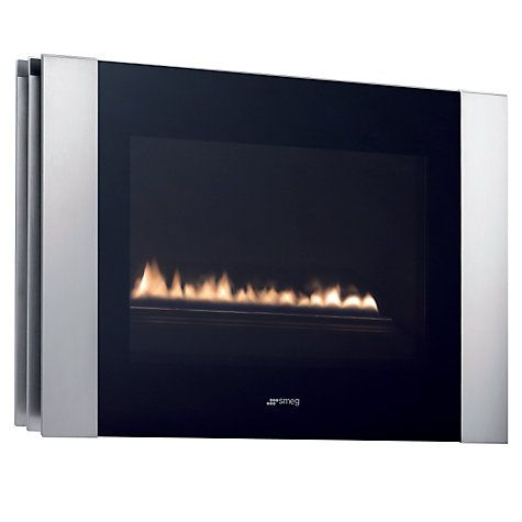 Buy Smeg L23LIN Flueless Gas Fire, Stainless Steel Online at johnlewis.com