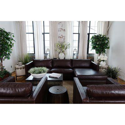 Elements Fine Home Furnishings URB-3PC Urban 3-Piece Leather Sofa Set