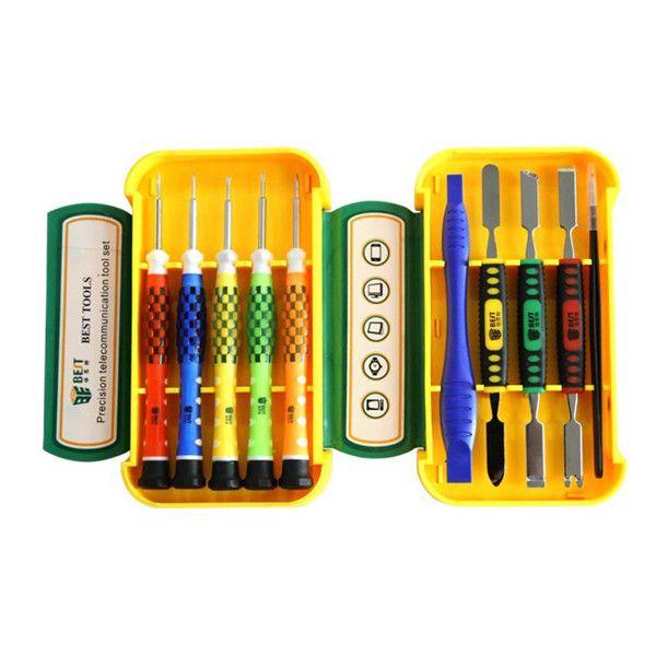 Los mejores destornilladores de trabajo de reparación de teléfonos celulares Precision BST-8926 10 en 1 Pinzas herramientas Set