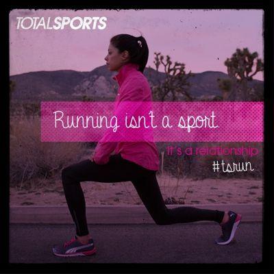 Running isn't a sport. It's a relationship. #TSrun #TSrunpink