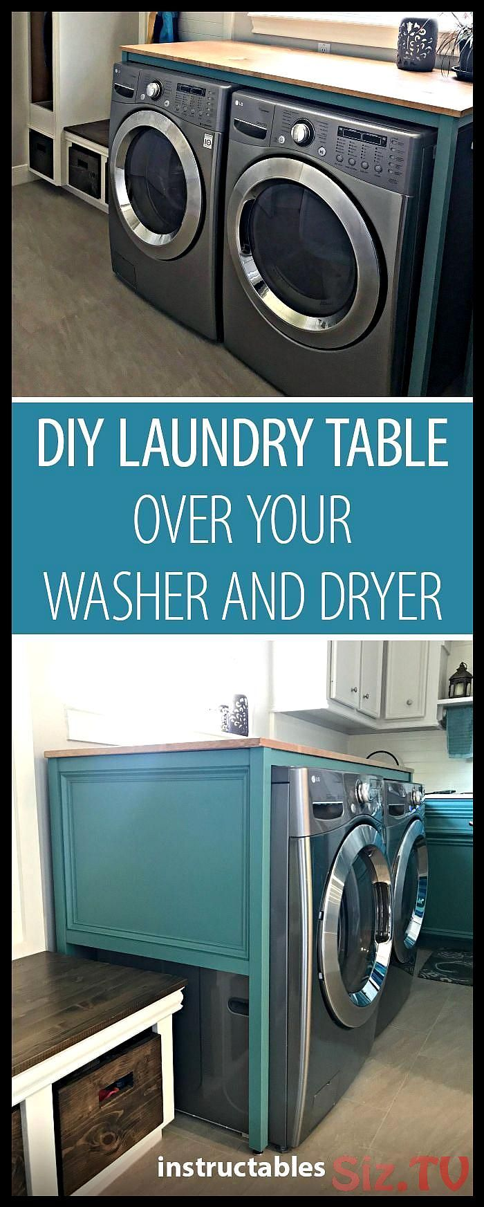 Diy Laundry Table Over Your Washer And Dryer Diy Laundry Table Over Your Washer And Dryer Instructables Save Diy Waschkuche Small Woodworking Projects
