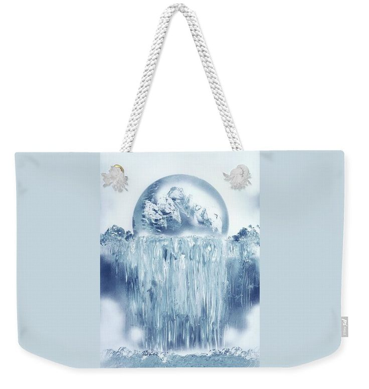 Ice Waterfall Weekender Tote Bag Printed with Fine Art spray painting image Ice Waterfall Nandor Molnar (When you visit the Shop, change the size, background color and image size as you wish)