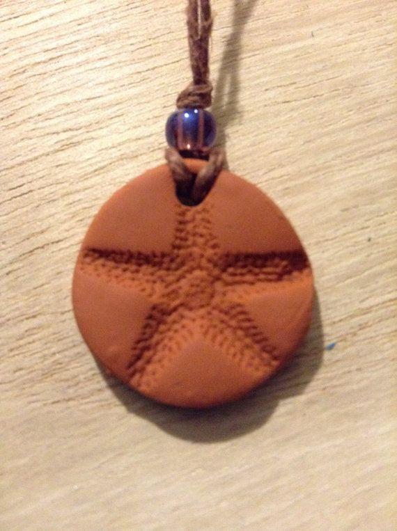 Terracotta Neck Pendant Diffuser ~ Sea star terracotta diffuser necklace diffusers kid and