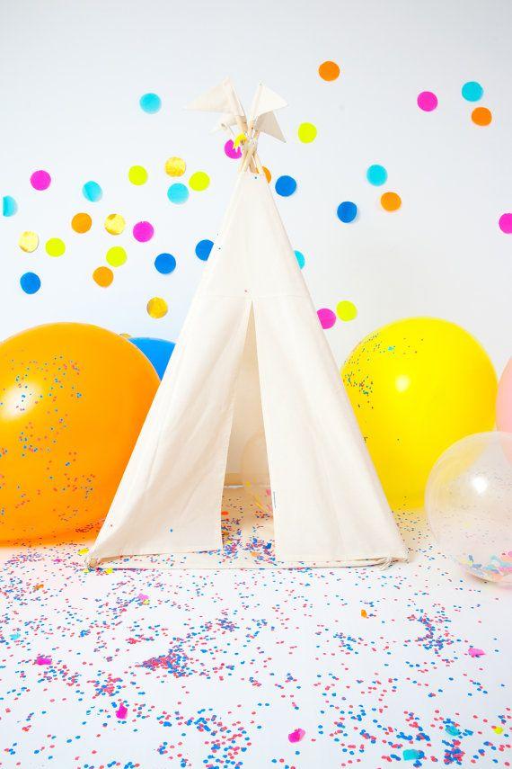 Play Teepee Tent | Reg/small Plain cotton indoor play teepee tent