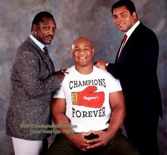 How is this for a trio? Visit us on facebook Boxing Hall of Fame Las Vegas Boxinghalloffame.com