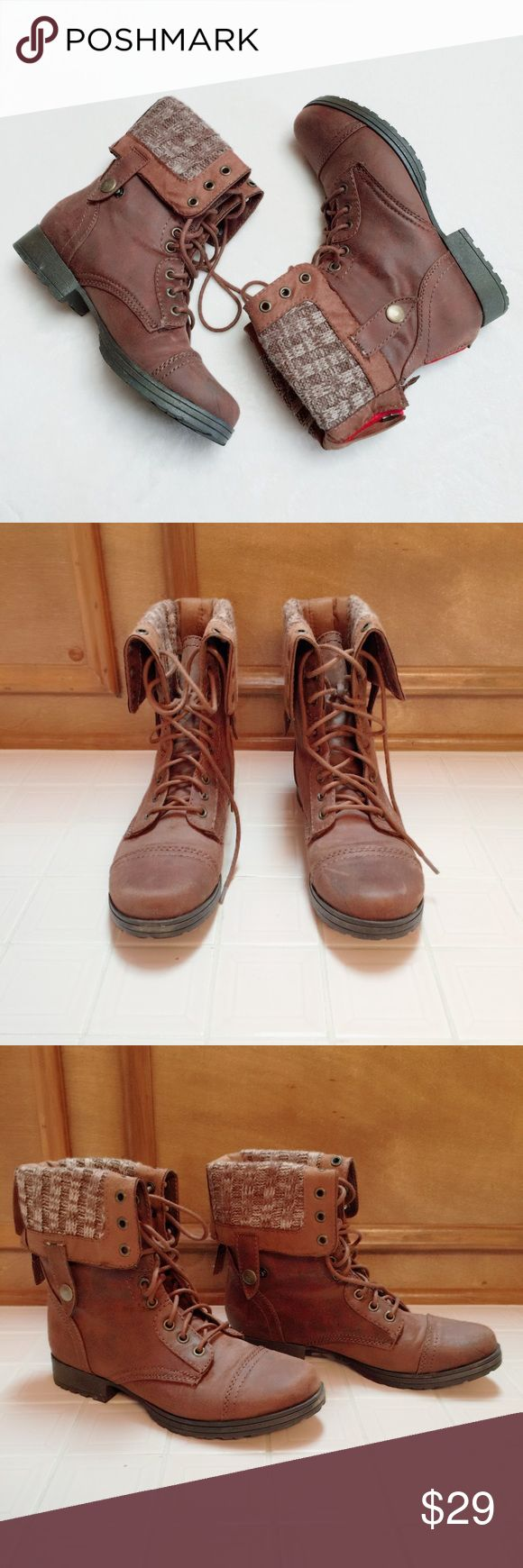 FALLS CREEK LACE UP BOOTIE 8 FALLS CREEK LACE UP BOOTIE 8. EXCELLENT CONDITION. WORN ONCE OR TWICE. LACE UP OR USE ZIPPER TO SLIDE IN AND OUT OF THIS GREAT BOOTIE. ADJUSTABLE SNAPS TO ADJUST THE HEIGHT OF THE BOOTIE. FALLS CREEK Shoes Lace Up Boots