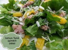 Much more than just a Tuna Sandwich, this Lemon Tuna Spinach Salad made with StarKist Tuna Creations has so much flavor.| justmeregina.com @StarKist