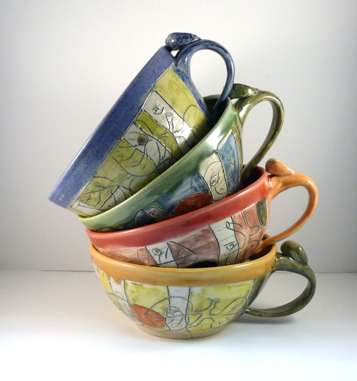Hand Crafted Handmade Soup Bowl With Handle Soup Mug Latte Cup by ...