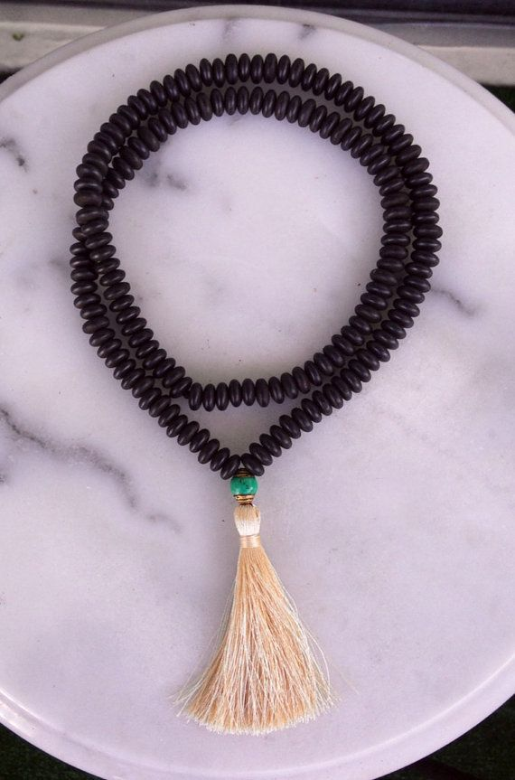 Wooden Disc Tibetan Tassel Necklace by TheArtsyNomad on Etsy