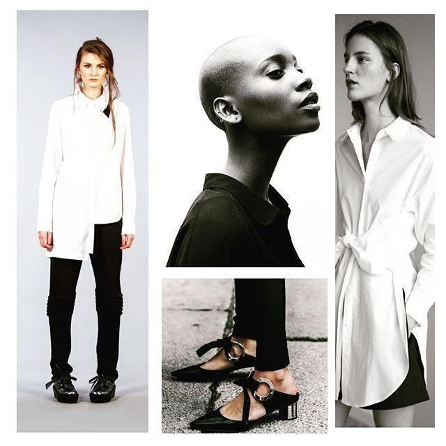 In Black & White #andreatincu #whiteshirt #moodboard #lovejob #contemporarydesign #minimalism #details #blackandwhite #beautifulmodels #classy