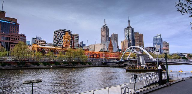 Take in the Melbourne skyline and river.