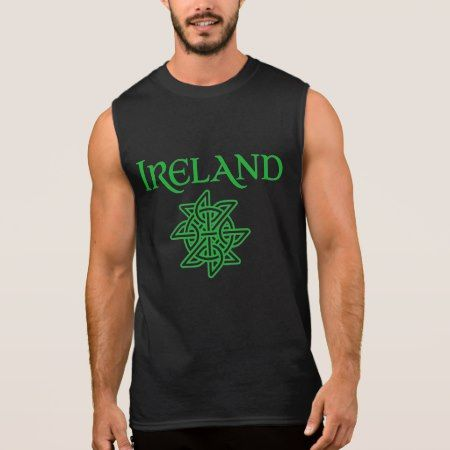 Men's Ireland Celtic Knot Sleeveless T-Shirt - click/tap to personalize and buy