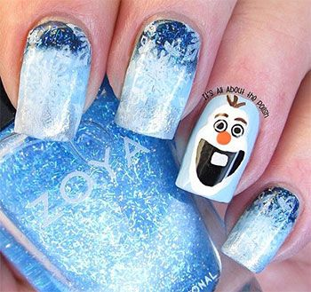 nail trends 2014 | Frozen Olaf Nail Art Designs Ideas Trends Stickers 2014 Olaf Nails ...