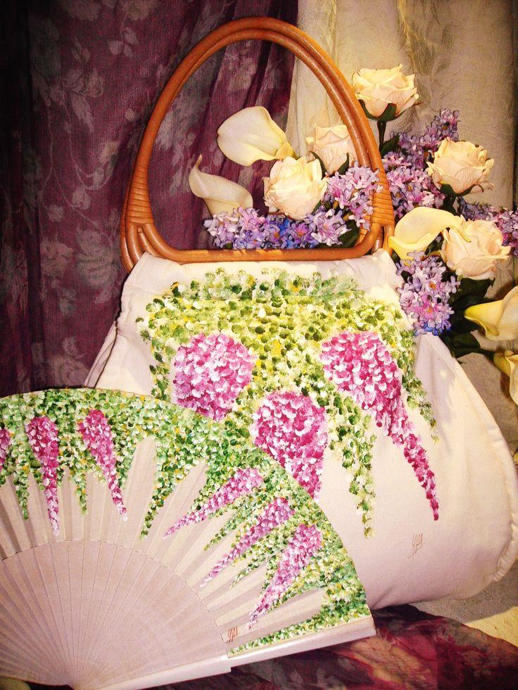 Artesanía y Diseño Adagio : Pintados a mano: Abanicos, Bolsos, pañuelos, alpargatas...