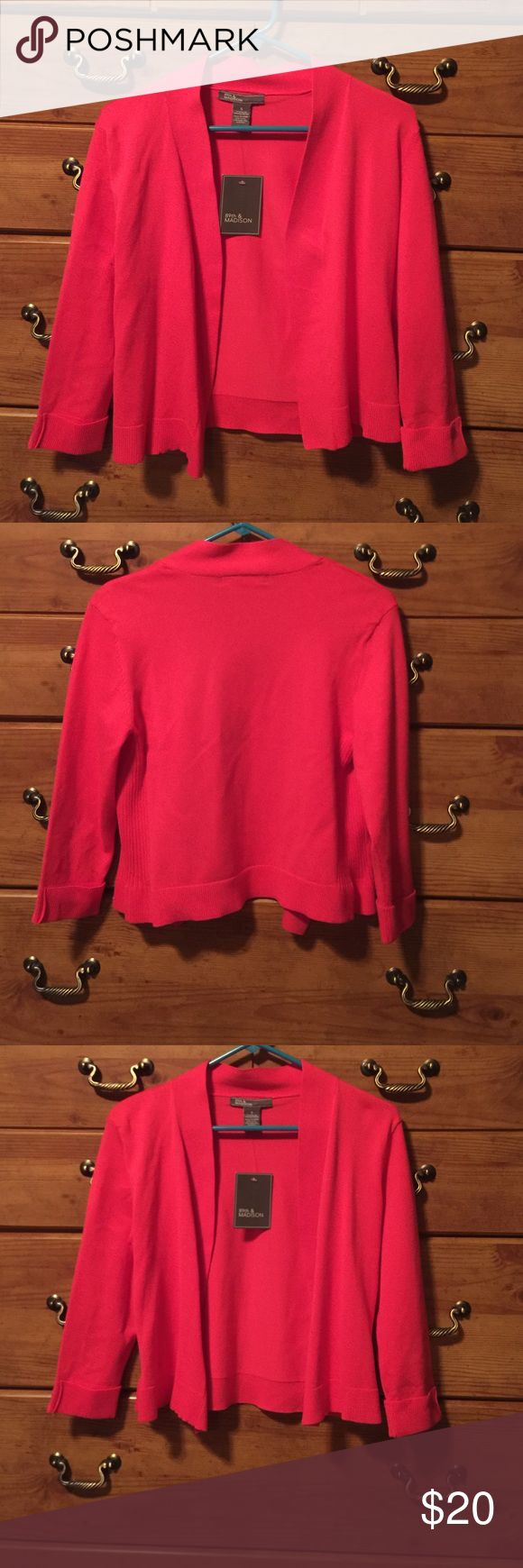 Pink sweater Pink cardigan sweater size small. NWT Sweaters Cardigans