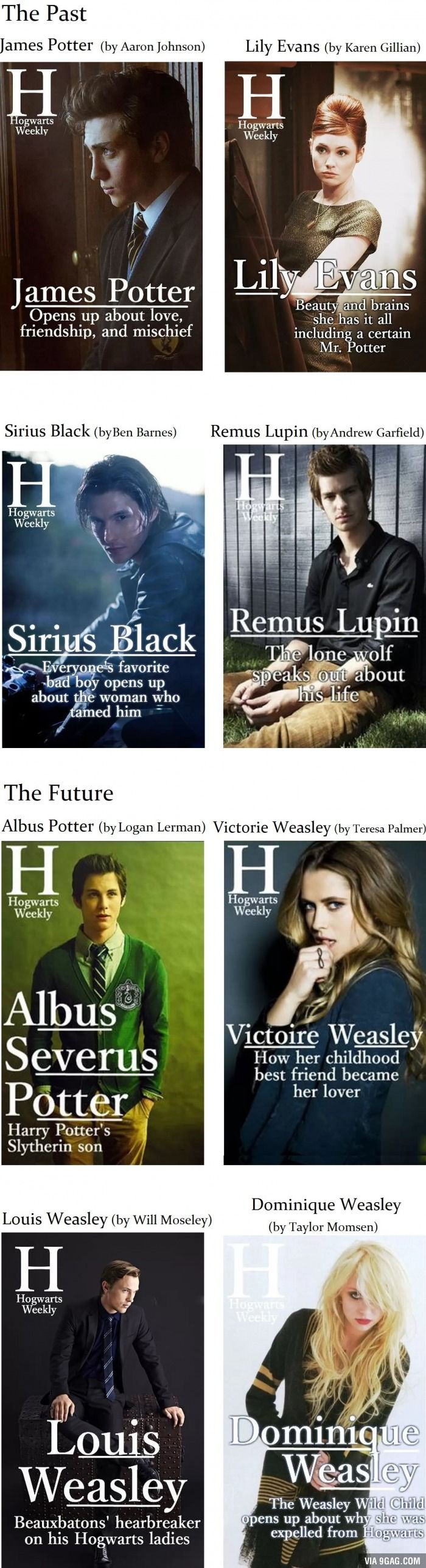 PERFECT. PERFECT, PERFECT!!! <3 Harry Potter - The Past and the Future in Magazine Covers