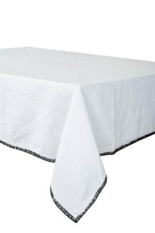 Harmony - Serviette en lin lavé carrée Letia blanche - 100% Lin - 41x41 cm - Home Beddings and Curtains