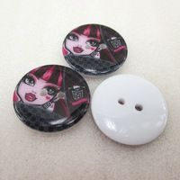 25Y42618  22*22mm button high quality printed polyester ribbon 25 pieces, DIY handmade materials, wedding gift wrap