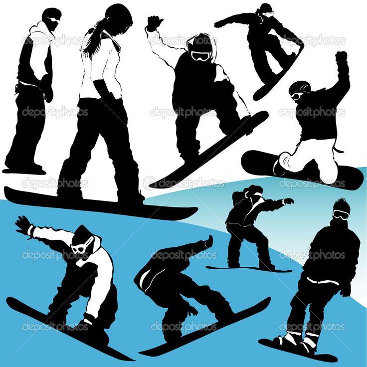 Snowboard set vector — Stock Vector © bogalo #8252382