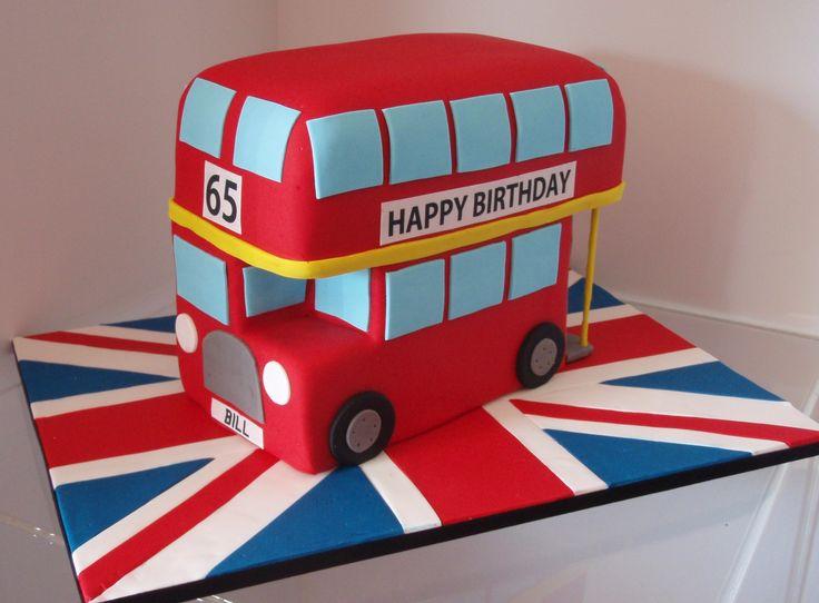 double decker bus cake