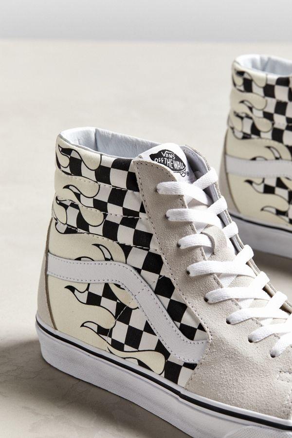 6fceecade6 Vans Sk8-Hi Checkerboard Flame Sneaker