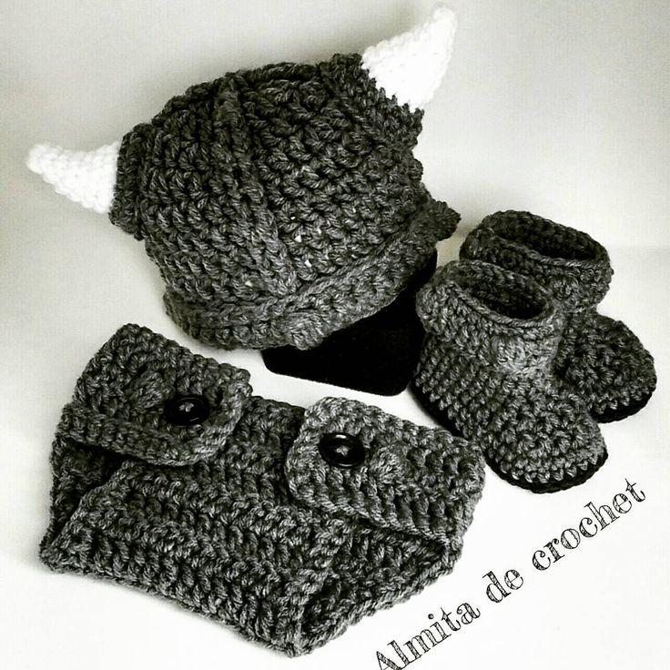 Crochet set vikingo